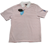 Greg Norman Micro Pique Stripe Polo - White/Red