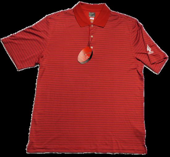 Greg Norman Microlux Stripe Polo - British Red