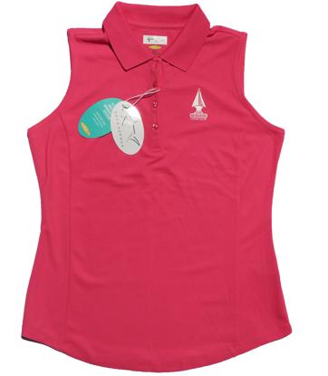 Greg Norman Sleeveless Micro Pique Polo - Pink
