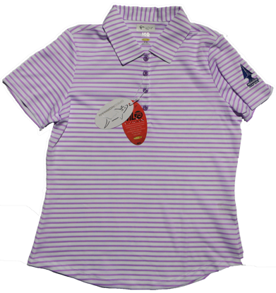 Greg Norman Microlux Stripe Polo - Orchid