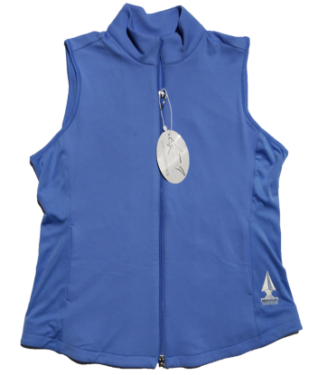 Greg Norman Knit Full Zip Vest - Cayman Blue