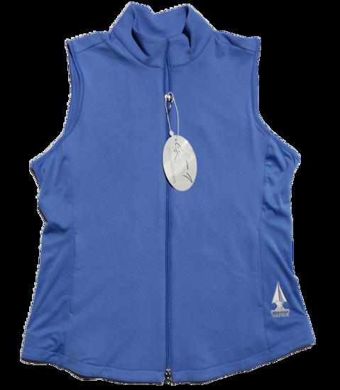 Greg Norman Knit Full Zip Vest - Cayman Blue