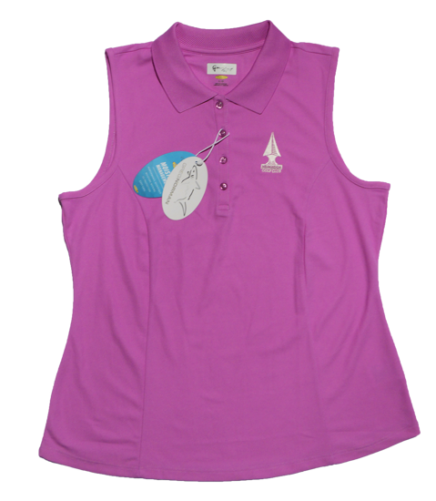 Picture of Greg Norman Sleeveless Micro Pique Polo - Orchid
