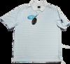 Greg Norman Micro Pique Stripe Polo - White/Sky
