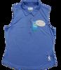 Embossed Dot Sleeveless Polo - Caymen Blue