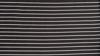 Greg Norman Micro Pique Stripe Polo Pattern Close - Black/White