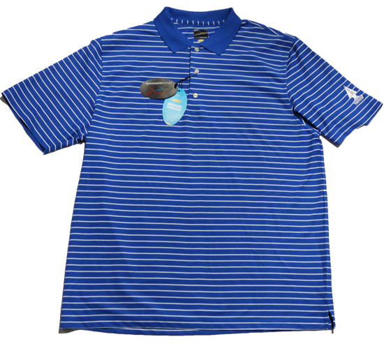 Greg Norman Micro Pique Stripe Polo - Maritime/White
