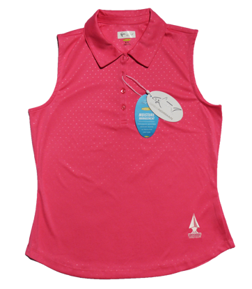 Picture of Greg Norman Embossed Dot Sleeveless Polo - Pink