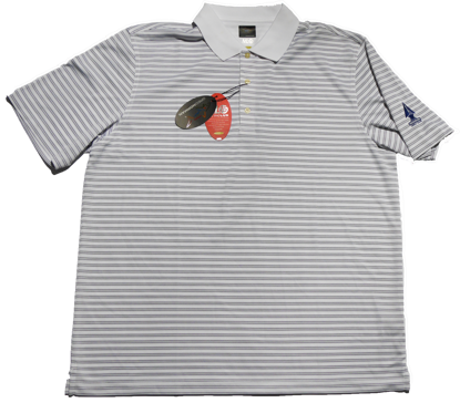 Greg Norman Microlux Stripe Polo - White