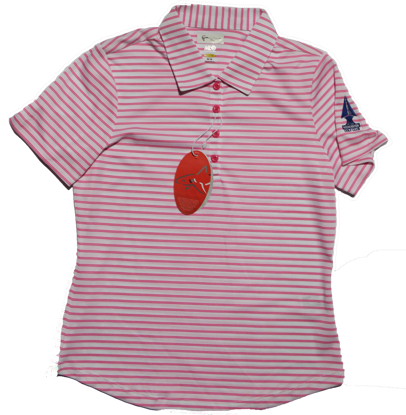 Picture of Greg Norman Microlux Stripe Polo - Pink
