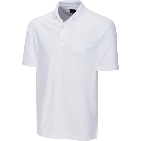 Greg Norman Protek Micro Pique Polo - White