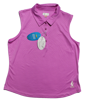 Embossed Dot Sleeveless Polo - Orchid