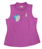 Greg Norman Sleeveless Micro Pique Polo -Orchid