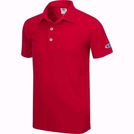 Picture of Boys U.S. Kids Golf Collection by Greg Norman ML75 Solid Polo w/ Nehoiden Logo - Red