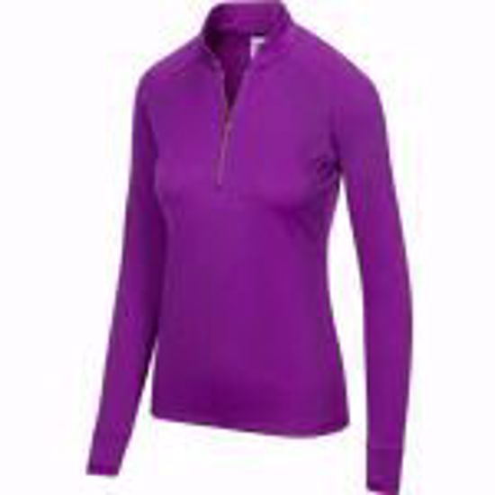Picture of Greg Norman Women's L/S Mock Sling Collar Polo